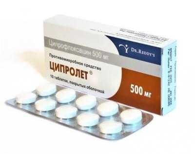 Ципролет при гайморите: инструкция по применению антибиотика