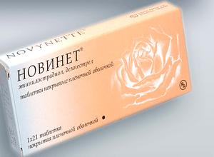 Противозачаточные таблетки Новинет: инструкция, отзывы, цена
