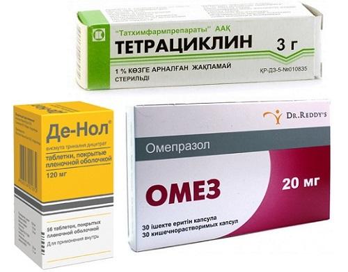 Медикаментозное лечение атрофического гастрита у взрослых: препараты, как воздействует Де-нол и Омепразол, симптомы заболевания
